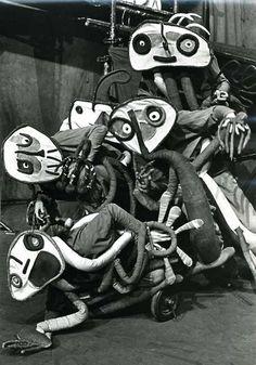 MORI EL MERMA (LA CLACA) AT RIVERSIDE JOAN MIRO'S COSTUMES 1978