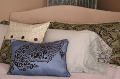 Custom headboard....custom bedding.  I do it all.  www.thesolutionocala.com