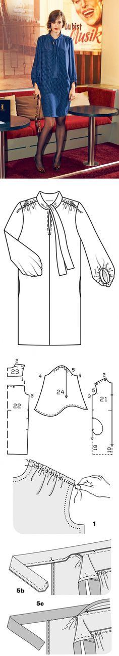 Как сшить платье рубашечного кроя / Мастер-классы / Burdastyle
