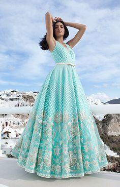 Summer 2020 – Summer in Santorini Dress Indian Style, Indian Dresses, Indian Wedding Outfits, Indian Outfits, Indian Designer Outfits, Designer Dresses, Hippie Style, Ethnic Outfits, Luxury Wedding Dress