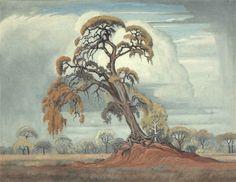 J H Pierneef (1886-1957) -- Untitled, 1951
