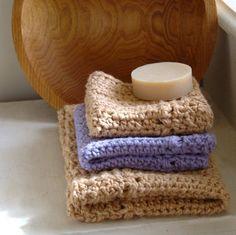 Rivers Edge Dishcloth and Hand Towel Crochet Pattern – HiddenMeadowCrochet