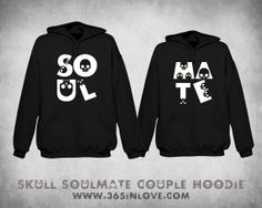 Skull Soulmate Couple Hoodie by 365inlovedotcom on Etsy, $59.99