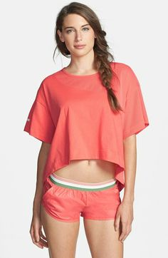 adidas by Stella McCartney 'Yoga Loose' High/Low Crop Tee available at #Nordstrom