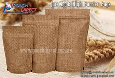 We are devotedly engaged in manufacturing and supplying a qualitative assortment of excellent quality #jute #look high barrier #bags, more information Visit at http://www.pouchdirect.com.au/jute-look-high-barrier-bags.html