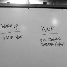 Might have to scale this one. 10 minute nap followed by 32 rounds of tabata hugs ain't no joke, son. #crossfit    tis the season