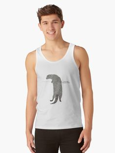 Gas fella Yurty says hang in there! Otter, Cotton Tote Bags, Tshirt Colors, Heather Grey, Tank Man, Classic T Shirts, Shirt Designs, Slim, Artists