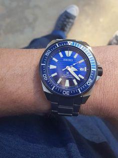 [Seiko] Samurai Save the Ocean Cool Watches, Watches For Men, Seiko Samurai, Seiko Watches, Clocks, Bracelet Watch, Cool Photos, Zodiac