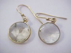 genuine quartz drop earrings 925 sterling silver 4.00tcw #Unbranded #DropDangle