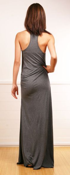 gray maxi dress: @roressclothes closet ideas women fashion outfit clothing style