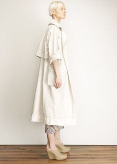 Raquel Allegra Painters Trench (Dirty White)