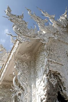 White Temple, Chiang Rai, Thailand.  I would love to see a Thai-inspired fantasy world.