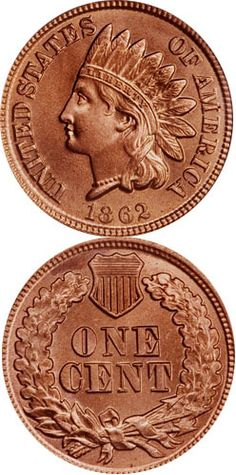 1862 Indian Head Cent      The lowest denomination in use during the Civil War, the cent, saw an increase in its mintage in 1862. The total output of coins for circulation at the Philadelphia Mint, the only facility that struck minor coins at the time almost tripled to 28,075,000 coins. Most of these, especially those struck after August, where hoarded and would not enter circulation until after the Civil War, when federal coins came into circulation again.