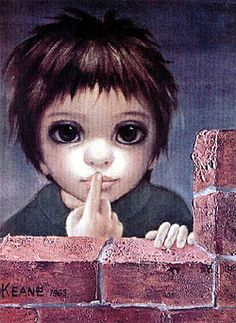 "Margaret Keane Very Softly (1963) ""big eyed"" art"
