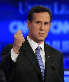 Former Pennsylvania Sen. Rick Santorum speaks during the first New Hampshire Republican presidential debate at St. Anselm College in Manchester, N.H.