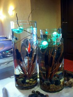 These fish are decorations at the buffet. What a great idea. Of coarse their were sushi jokes and they were serving fish, but I love the colors and the peacefulness of the fish as decorations.