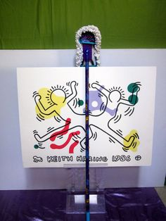 KEITH HARING dust broom sweeper mop Clean with PASSION pop art modernist design