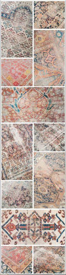 Distressed rugs by Nasser Luxury Rugs in Los Angeles.