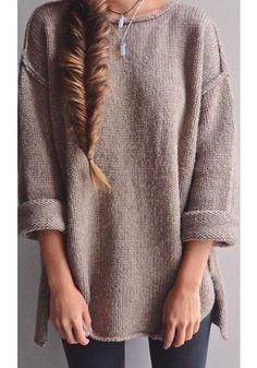 Buy Apricot Plain side slit Round Neck Fashion Acrylic Pullover Sweater online with cheap prices and discover fashion Sweaters,Pullovers,Sweaters & Cardigans,Sweaters,Women Sweaters,Cheap Sweaters,Fashion Sweaters,Sweater,Popular Sweaters,Women Sweater at Loverchic.com.
