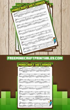 Free Minecraft Printables: Free Printable Minecraft Sheet Music