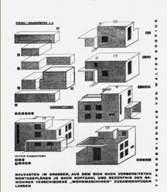 Dissertation: How does the conflict between collectivist utopia and individualism in modernism manifest itself in housing architecture? Bauhaus Architecture, Modern Architecture, Le Corbusier, Modernist Movement, Casas Containers, Macro And Micro, Walter Gropius, Ludwig Mies Van Der Rohe, Social Housing