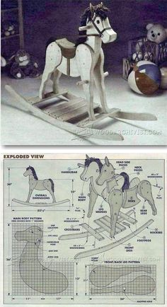 Rocking Horse Plans - Children's Woodworking Plans and Projects | WoodArchivist.com