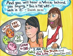 """His is the """"still small voice"""" that whispers to you, """"Return, my beloved, and live."""" #Jesus www.thegoodnewscartoon.com ***Facebook: The Good News Cartoon***"""