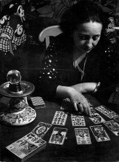 Tarot Card reader - the muse for Evangeline's card readings which upset her grandmother