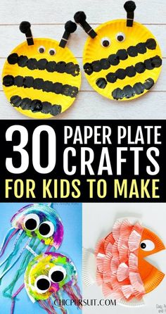 Paper Plate Crafts For Kids Easy: Simple Paper Plate Crafts For Kids Toddlers. If you're looking for easy crafts for kids to make at home, these arts and crafts for kids, DIY crafts for kids, paper plate crafts for toddlers, paper plate crafts for kids animals, simple paper plate crafts for kids preschool and paper plate crafts for kids art projects are perfect for your family to try out! #paperplatecraftsforkids #crafts #paperplate #paperplatecrafts #craftsforkids #easy #diy Sun Crafts, Bear Crafts, Fish Crafts, Paper Plate Crafts For Kids, Crafts For Kids To Make, Kids Diy, Toddler Crafts, Preschool Crafts, Toddler Art