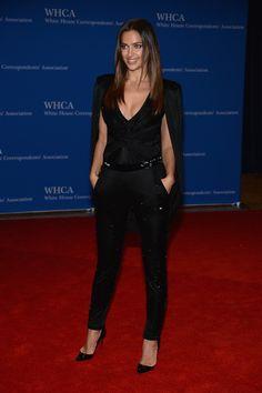 513efdd062c Irina Shayk Jumpsuit - Irina Shayk went from supermodel to superhero in  this caped black Atelier