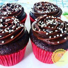 Cupcakes de Chocolate #coberturatrufada
