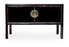 Cambria Console Table, Distressed Black on OneKingsLane.com