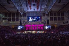 Every seat in Conte Forum is filled