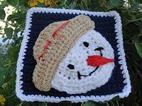 My Crochet , Mis Tejidos: Snow Man Granny Squares for the Sibol Group