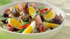 Salade d'aubergine aux oeufs