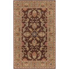Art of Knot Daviston Wool Area Rug, Brown