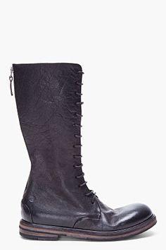 quality design a7260 dddc6 I want. MARSELL Black Calf-High Combat Boots Mid Calf Boots, Calves,