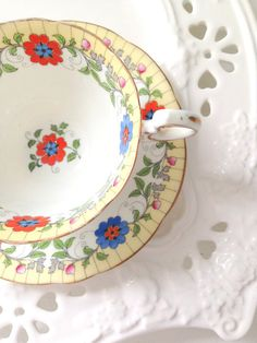 Antique English Bone China Aynsley Wide Mouthed by MariasFarmhouse