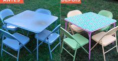 Sempre é útil ter uma mesa dobrável com cadeiras — elas são fáceis de guardar e transportar para utilizar com vários propósitos. O problema é que normalmente elas são feias, ...