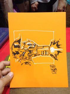 Rocket raccoon sketch #c2e2