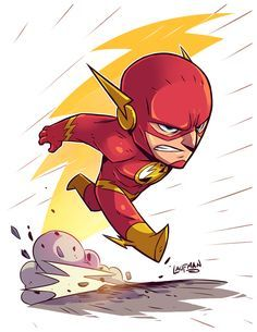 Drawing Dc Comics Chibi Flash by DerekLaufman on - Chibi Marvel, Ms Marvel, Marvel Dc Comics, Chibi Superhero, Deadpool Chibi, Batman Chibi, Flash Superhero, Character Drawing, Comic Character