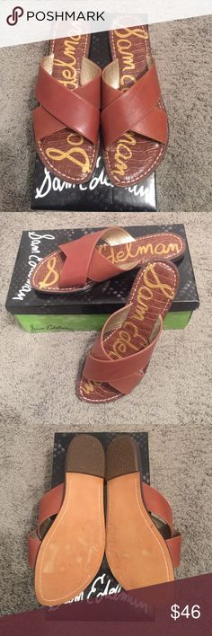 Sam Edleman Kora sandals NWOT Super stylish Sam Edelman Kora sandals in saddle. Size 9 only worn once around the house. They are too small so I won't get any use out of them. They come with box. No trades! Sam Edelman Shoes Sandals