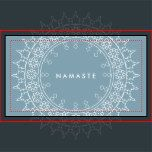 A decorative mandala brings a worldly vibe to this yoga inspired business card template. Great for yoga teachers, studios, instructors, pilates, meditation and more. Art and design © 1201AM CREATIVE