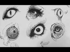 Video by Alphonso Dunn How to Draw realistic animal eyes as part of drawing portraits. This tutorial provides simple but powerful tips on drawing realis Ink Pen Drawings, Animal Drawings, Drawing Sketches, Sketching, Realistic Eye Drawing, Drawing Eyes, How To Draw Realistic, Snake Drawing, Figure Drawing