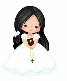First Communion Cards, First Communion Invitations, First Holy Communion, Angel Illustration, Character Illustration, Baptism Cookies, Owl Classroom, Page Borders Design, Baptism Centerpieces