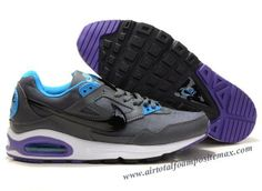 detailed look db595 b67e0 Nike Air Max Skyline Grey-Blue Purple 343886 024 Blue And White, Black,