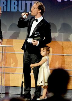 Matthew McConaughey (L, holding the American Cinematheque Award) and Vida Alves McConaughey attend the 28th American Cinematheque Award honoring Matthew McConaughey at The Beverly Hilton Hotel on October 21, 2014 in Beverly Hills, California.