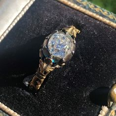 old mine cut Antique Engagement Rings, Georgian, Bracelet Watch, Jewels, Jewellery, Diamond, Antiques, Bracelets, Accessories