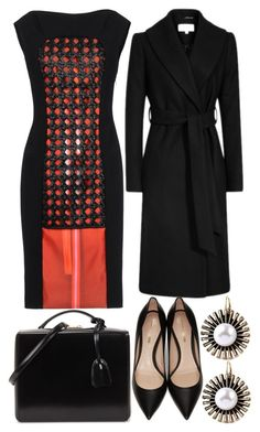 """""""On Trend: Two-Tone Dresses"""" by sc-styles ❤ liked on Polyvore featuring Thakoon, Nicholas Kirkwood and Mark Cross"""