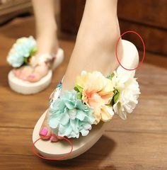 e3eb8fc4b74b83 Buy new fashion women summer bohemia slippers beach shoes multicolor  flowers flip sandals from newdress
